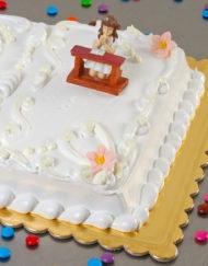 tarta de Primera Comunión con merengue