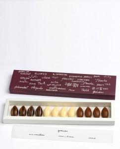 "caja ""Gracias"" con 3 variedades de bombones (12 unidades)"