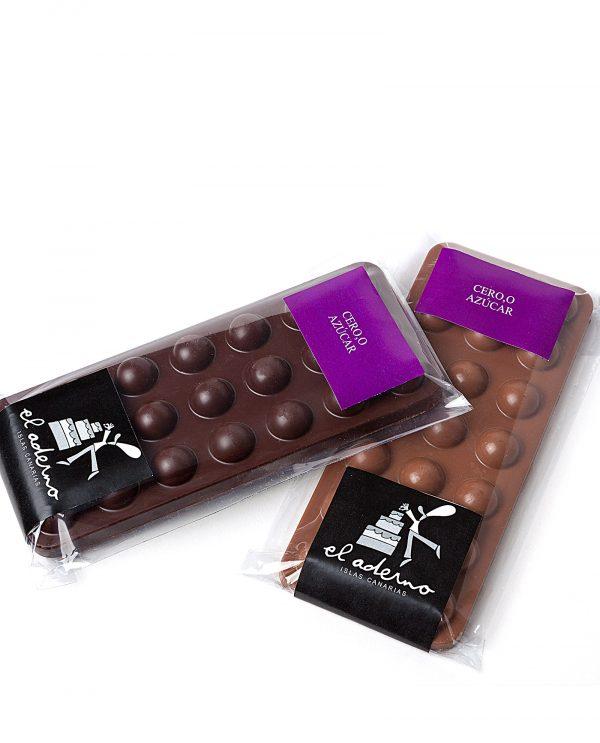 chocolate sin azúcar en tabletas