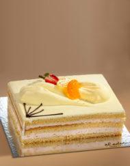 tarta de nata y frutas