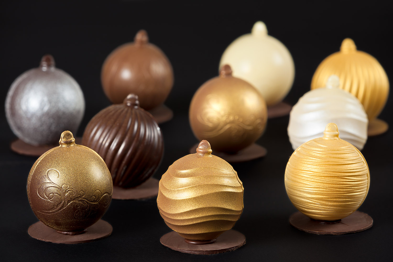 Bolas de Navidad de chocolate El Aderno