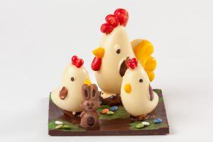 Corral de chocolate pequeño para Pascua