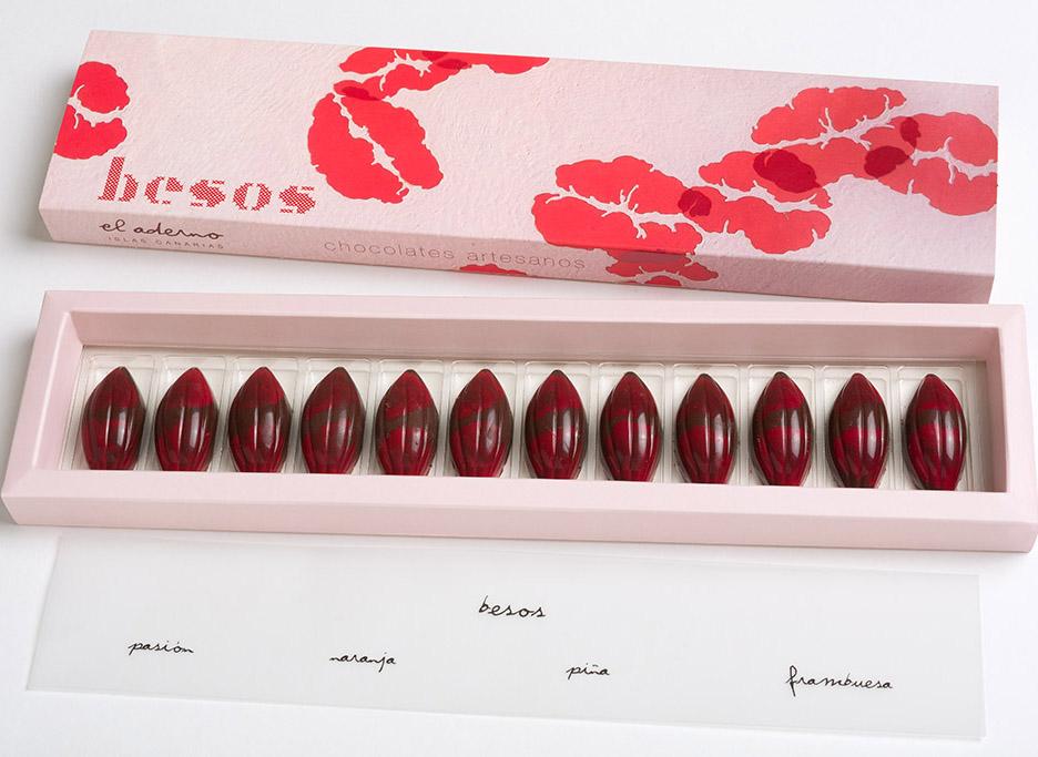 12 bombones Besos