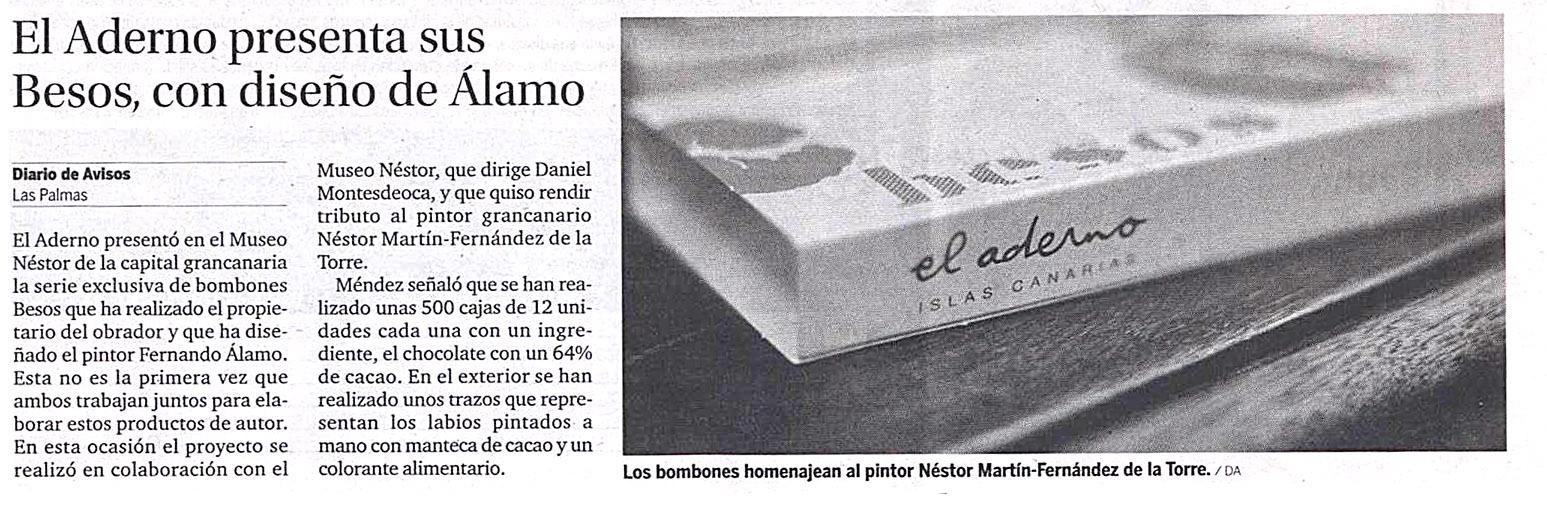Diario de Avisos habla de los bombones Besos