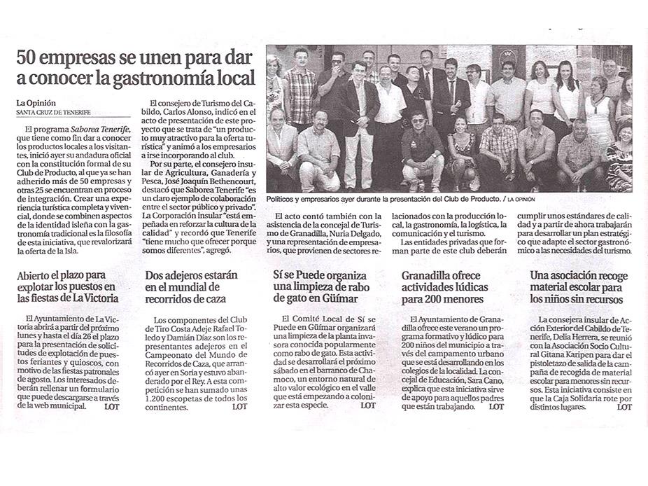 presentación del proyecto Saborea Tenerife