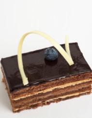 pastel Ópera de moka, trufa y chocolate