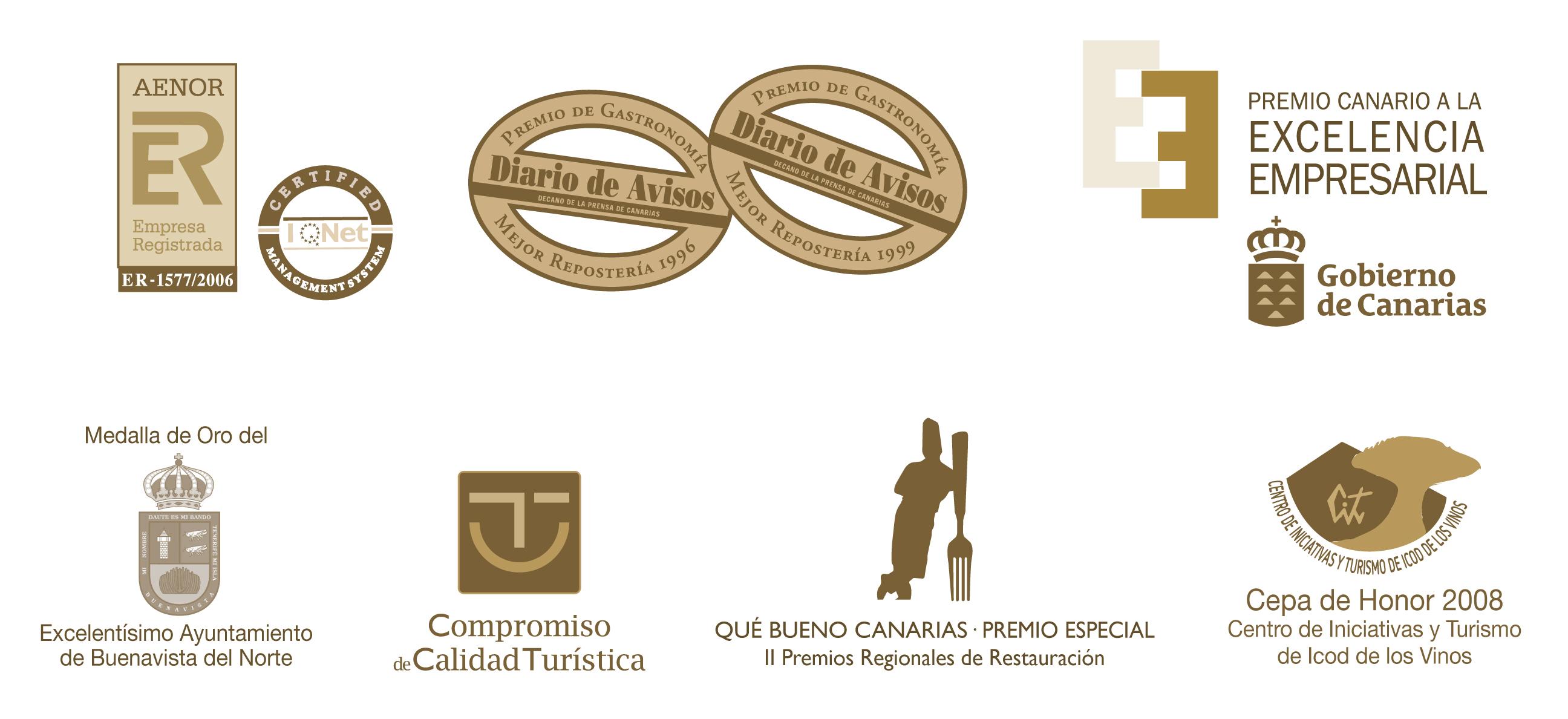 premios y reconocimientos recibidos por El Aderno