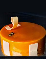 tarta mousse de mango y maracuyá