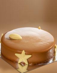 tarta mousse Children, chocolate con leche y bizcocho crujiente de avellanas