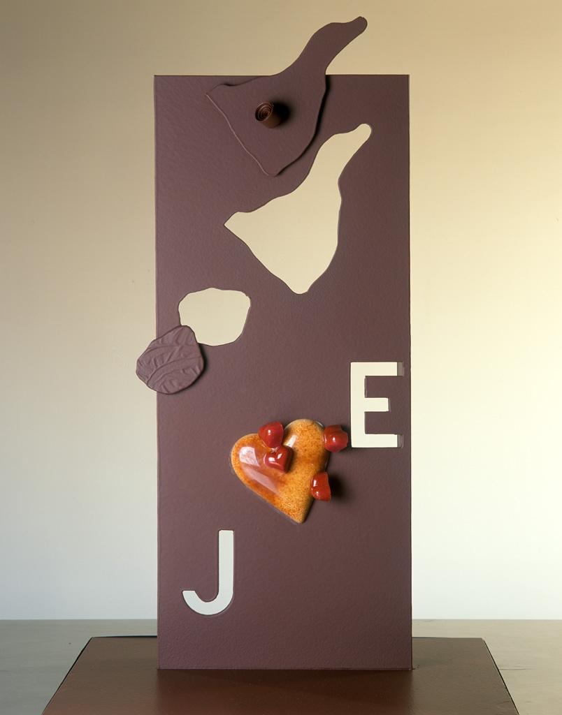 pieza artística de chocolate para bodas