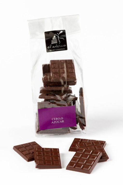 mini tabletas de chocolate negro sin azúcar