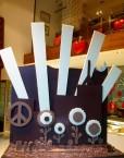 pieza artistica de chocolate para el Carnaval 2012