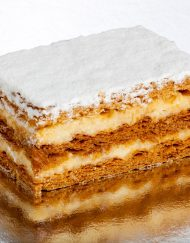 pastel milhoja de crema