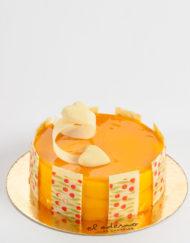 tarta mousse de sabores tropicales