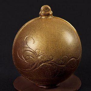 bola de navidad de chocolate