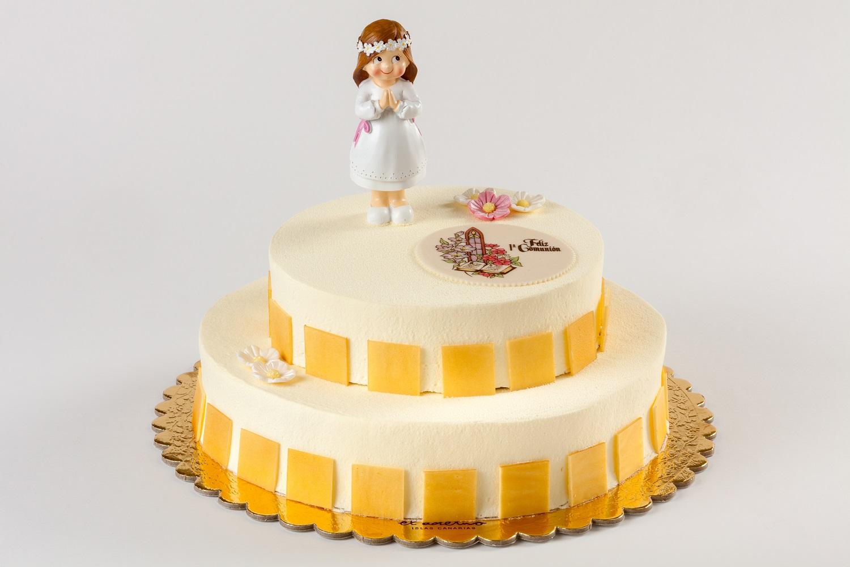 tarta redonda de comunión