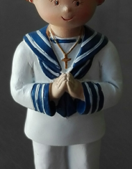 marinero de traje blanco