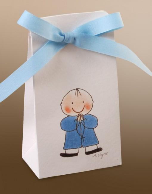 cajita primera comunion con ilustracion nino