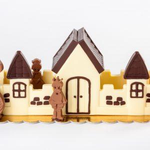 Castillo de chocolate para Pascua
