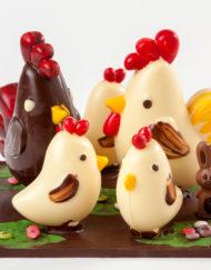 Corral de chocolate grande para Pascua