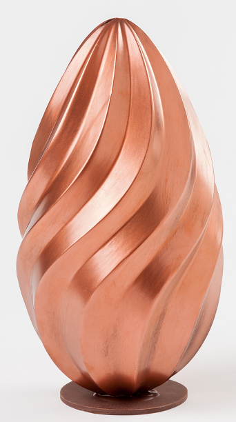 huevo de chocolate con un relieve 3D para regalar en pascua
