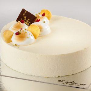 tarta de mousse terciopelo blanco