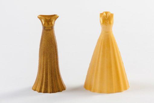 vestido de chocolate color dorado para regalar el día de la madre