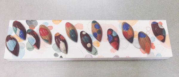 caja de bombones Colección de Autor el Aderno, con Karina Beltrán