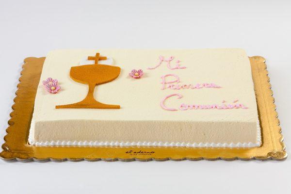 tarta de comunión cáliz