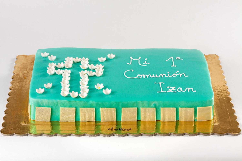 tarta rectangular de comunión