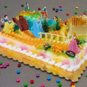 tarta de cumpleaños princesa disney