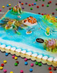 tarta infantil con decoración Nemo