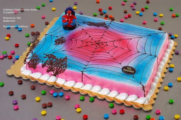 tarta infantil spiderman