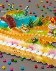 tarta infantil con decoración Winni the Pooh