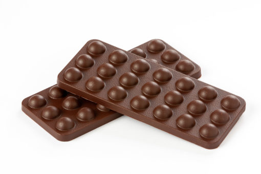 tableta burbuja de chocolate negro