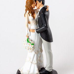figura boda pareja beso