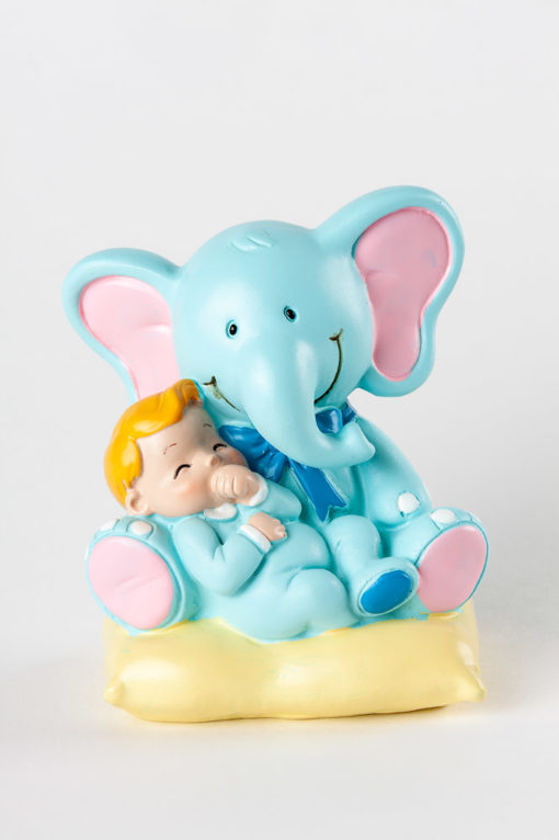 figura bautizo elefante azúl