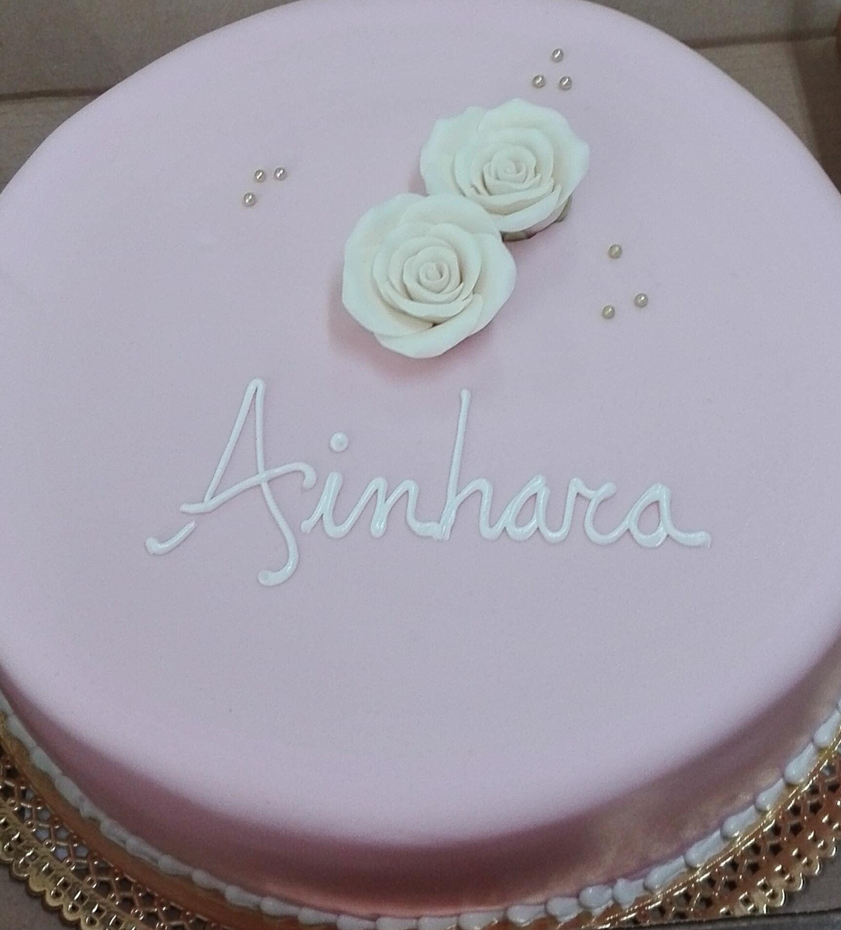 Tarta de bautizo Ainhara