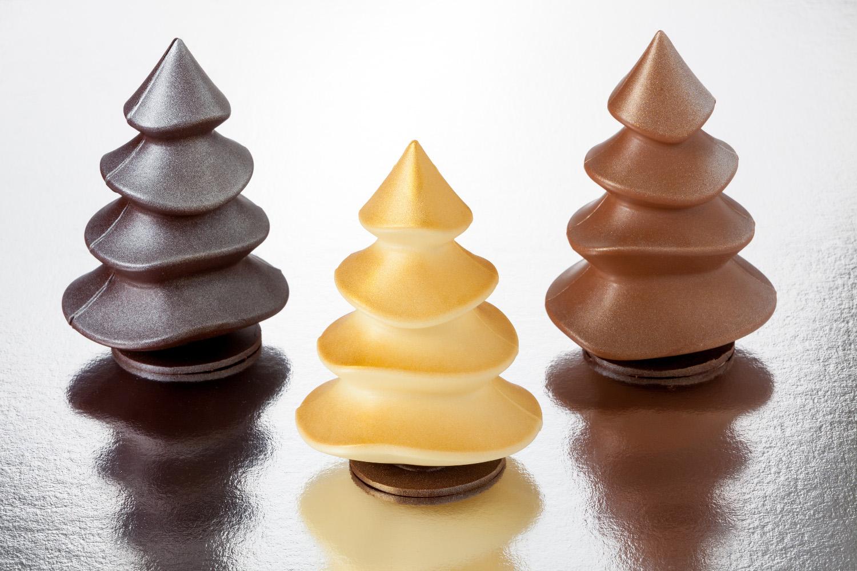Abetos de chocolate