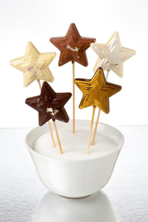 estrellas de chocolate