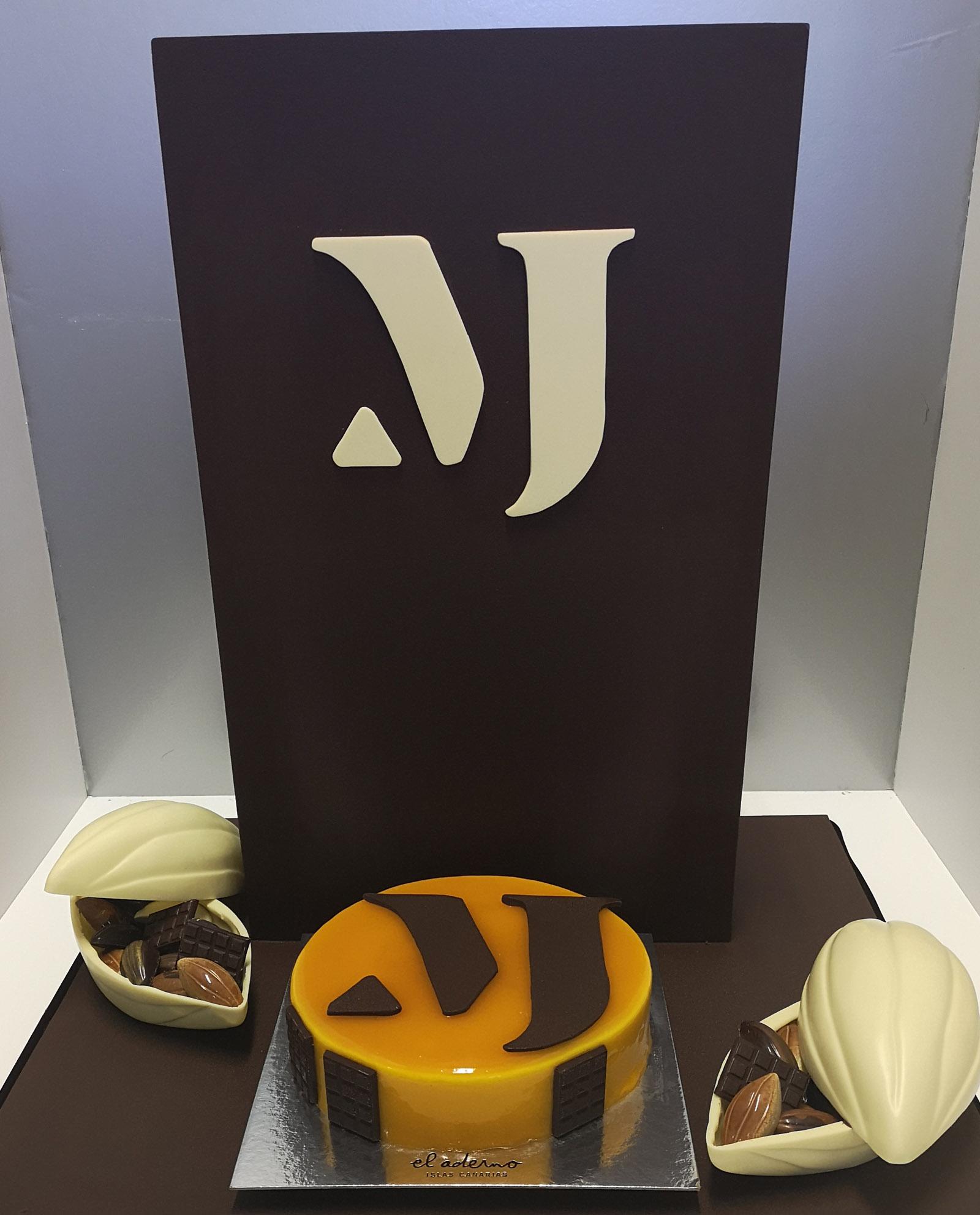 pieza de chocolate personalizada