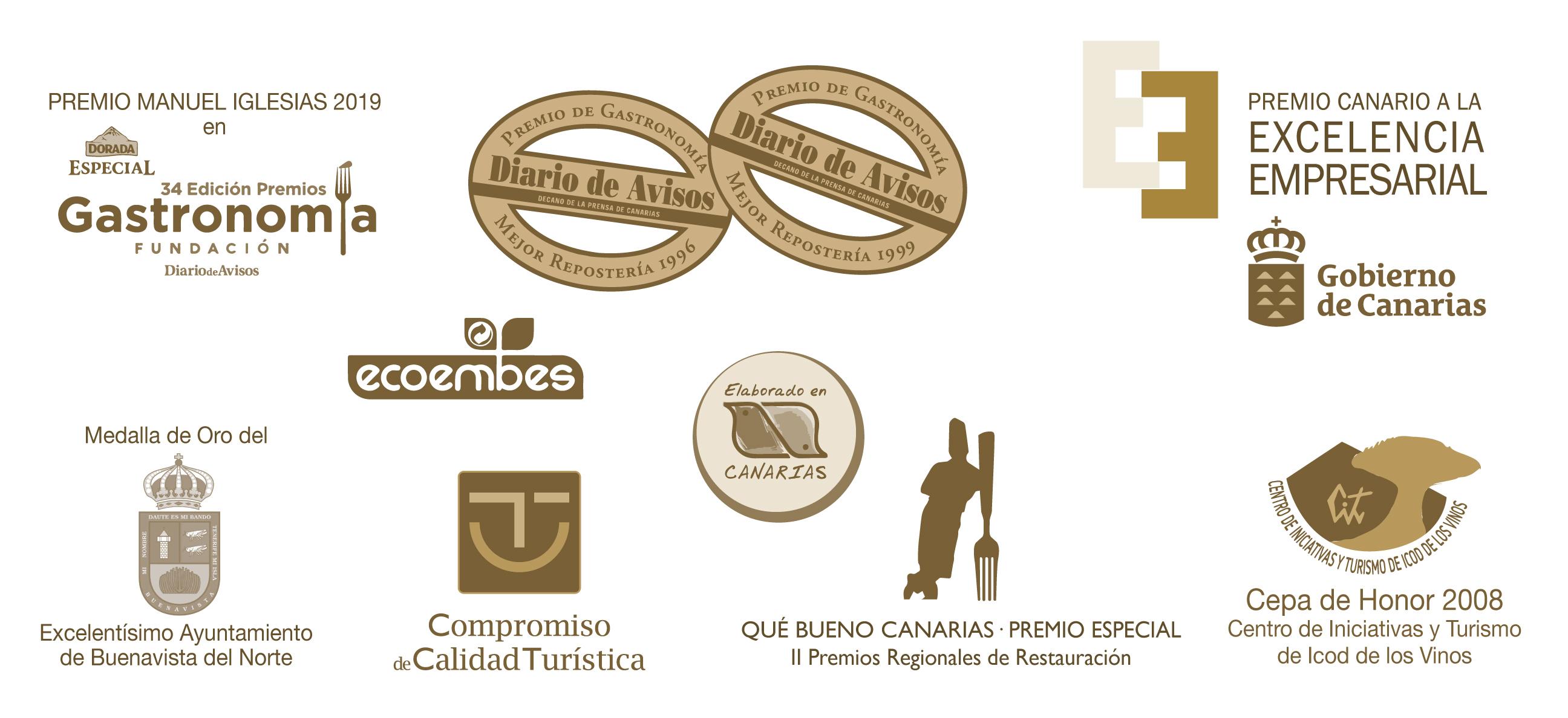 premios y certificaciones - El Aderno