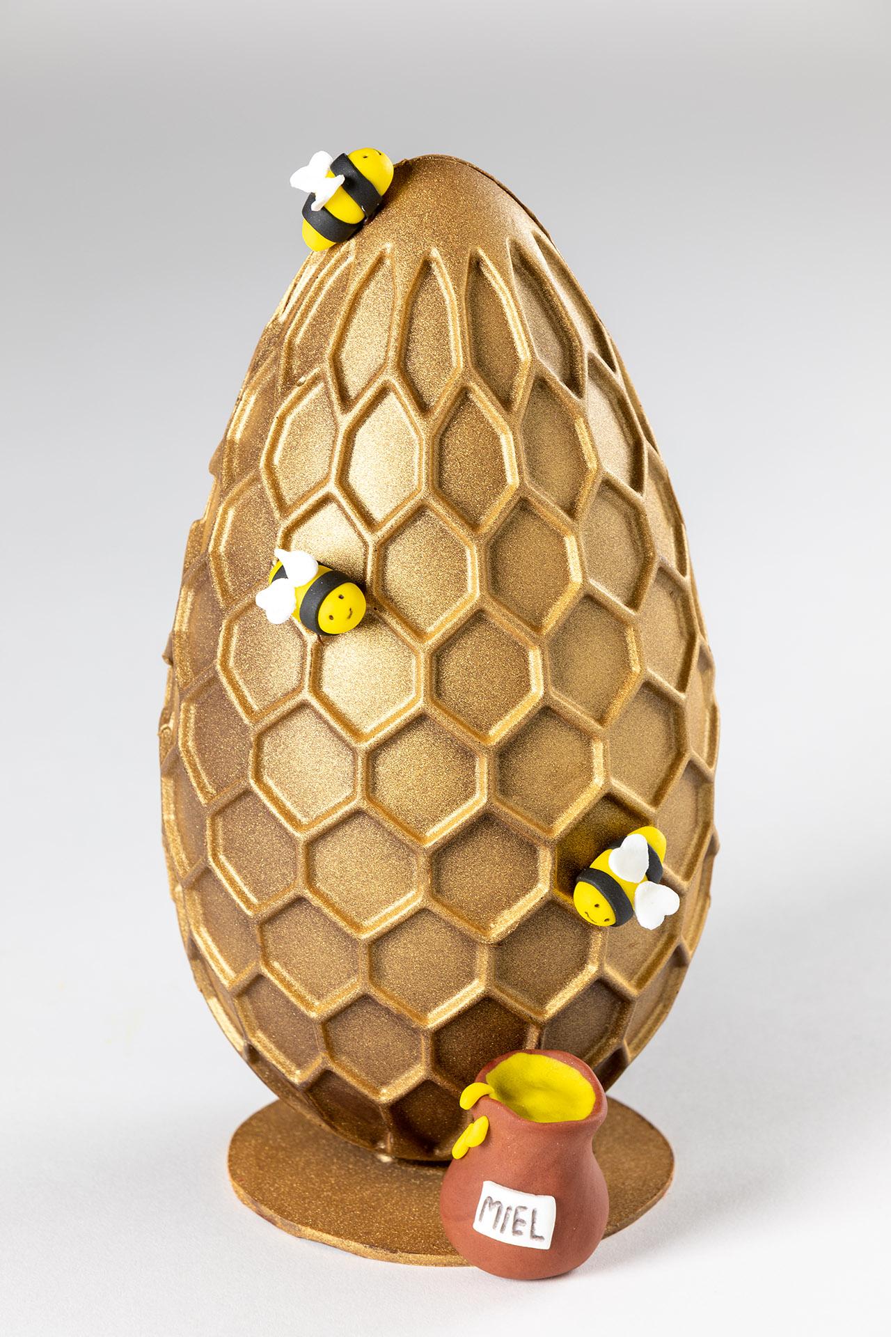 huevo de pascua panal de chocolate