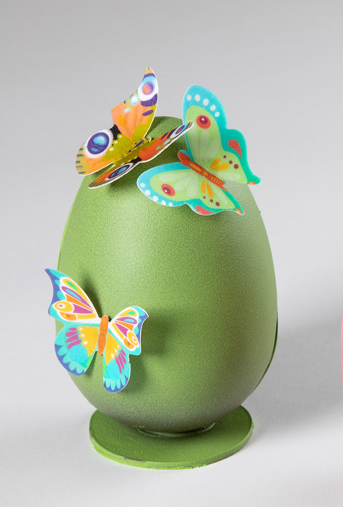 huevo de pascua mariposas